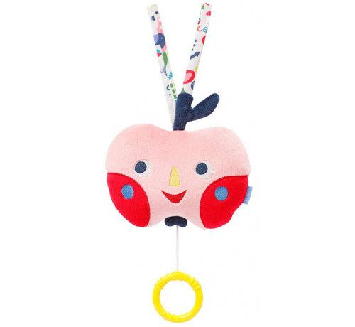 Fehn muziekdoosje Color Friends appel 13 cm pluche
