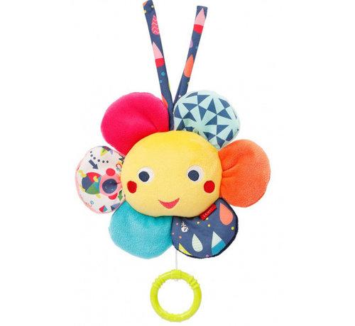 Fehn muziekdoosje Color Friends bloem 17 cm pluche