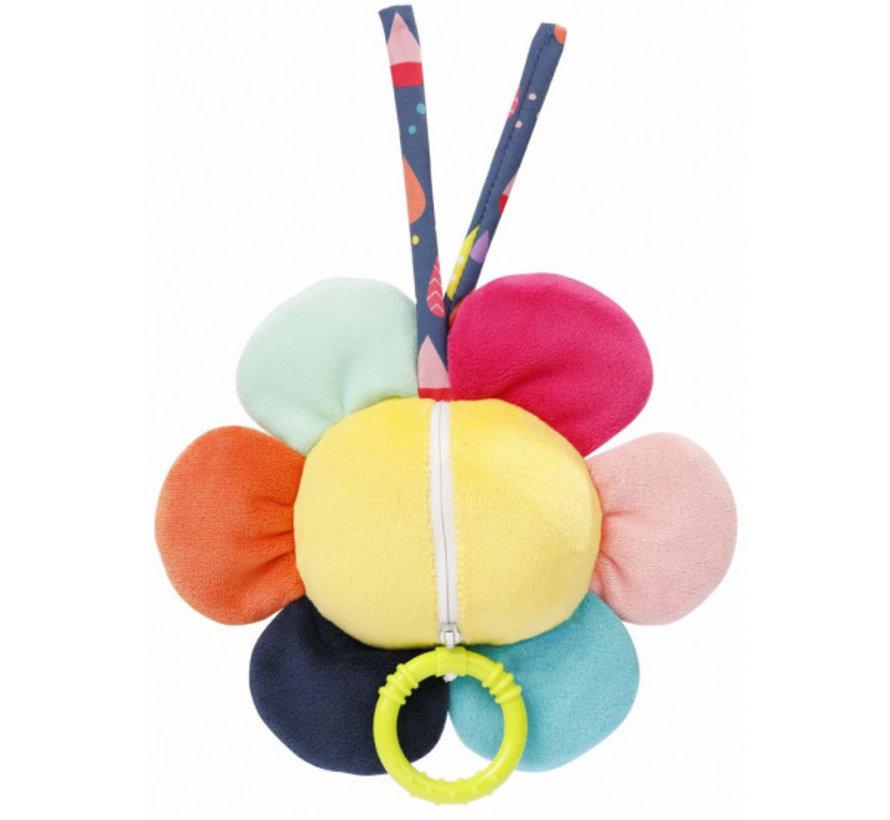 muziekdoosje Color Friends bloem 17 cm pluche