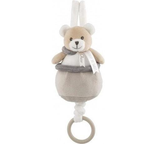 Chicco muziekdoos Teddybeer junior 9 x 21,5 cm pluche beige