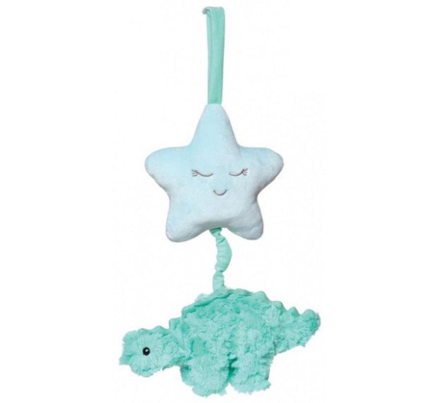 muziekdoos Chomp junior 15 cm pluche turquoise