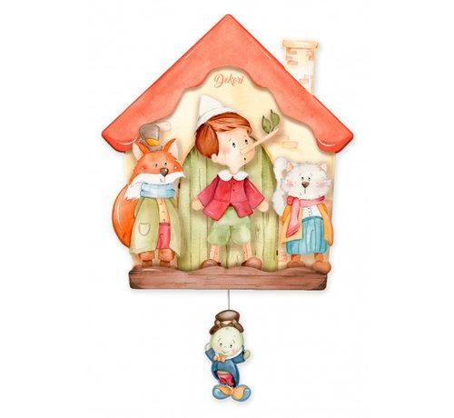 Dekori muziekdoos Pinokkio junior 23 x 32 cm oranje/bruin hout