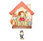 muziekdoos Pinokkio junior 23 x 32 cm oranje/bruin hout
