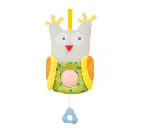 Taf Toys muziekdoos Uil met nachtlamp junior 42 cm multicolor