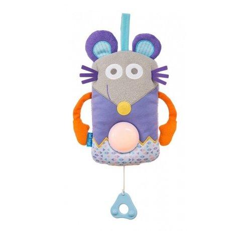 Taf Toys muziekdoos Muis met nachtlamp junior 42 cm multicolor