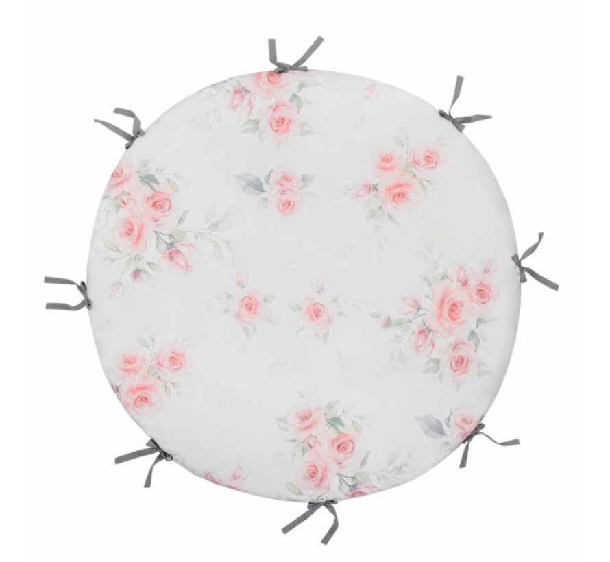 speelmat junior 100 cm polykatoen lichtgrijs/wit/roze