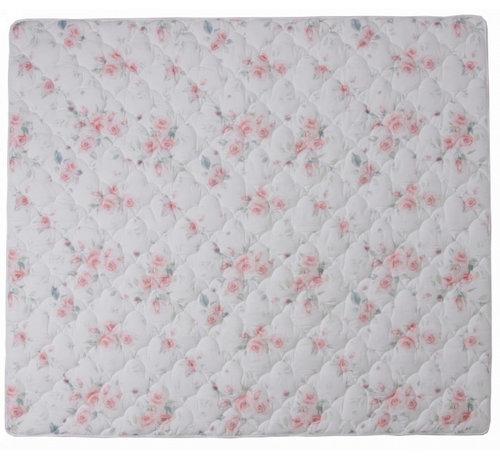 Lulando speelmat anti-slip junior 150 x 130 cm katoen wit/roze
