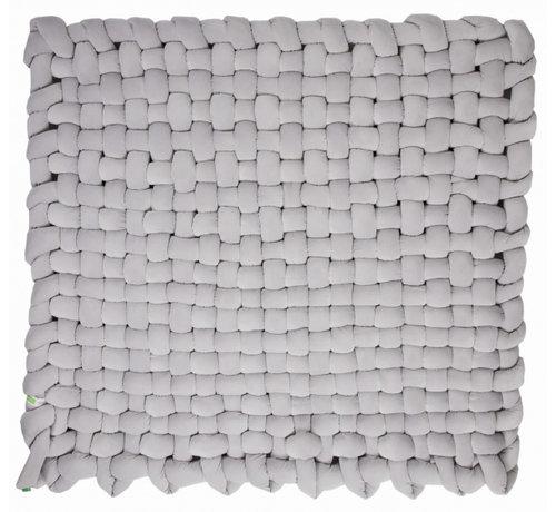 Lulando speelmat junior 140 x 140 cm polyester lichtgrijs