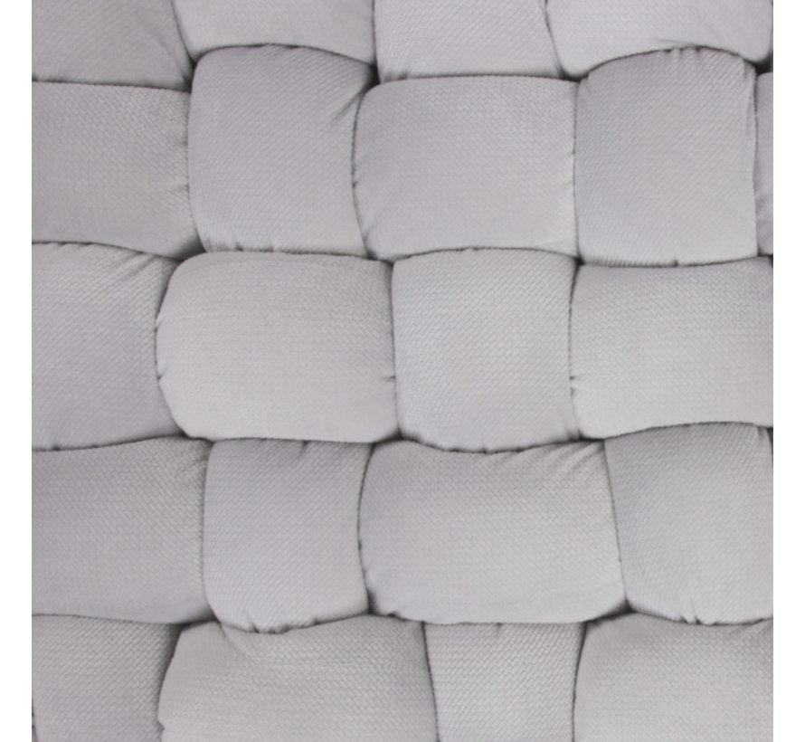 speelmat junior 140 x 140 cm polyester lichtgrijs