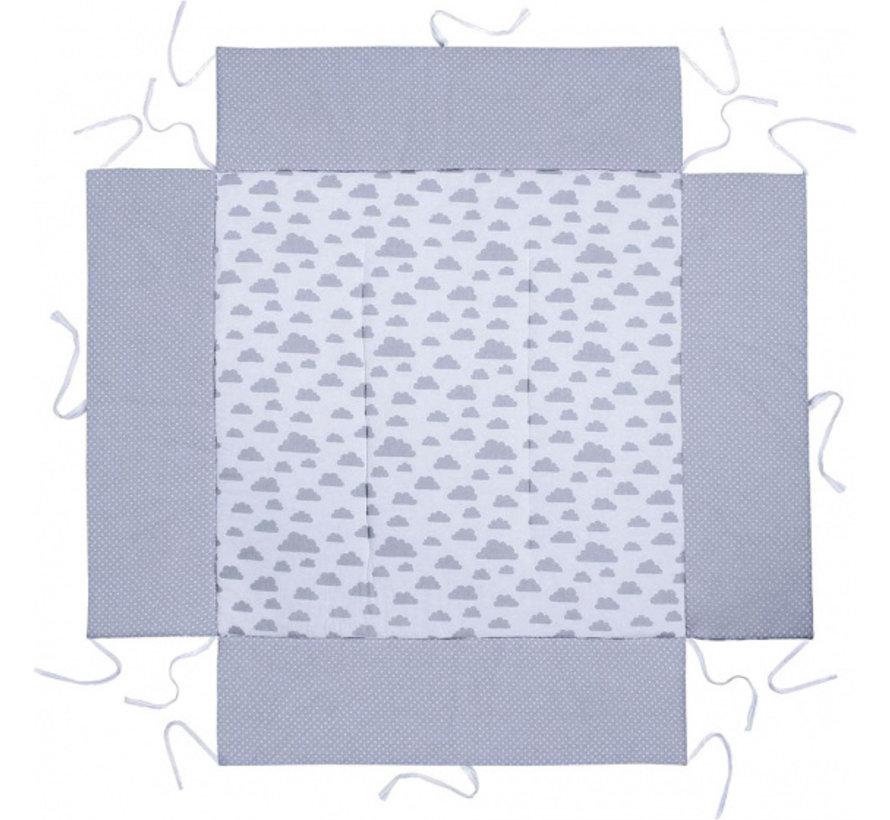 boxkleed junior 100 x 100 cm katoen lichtgrijs/wit