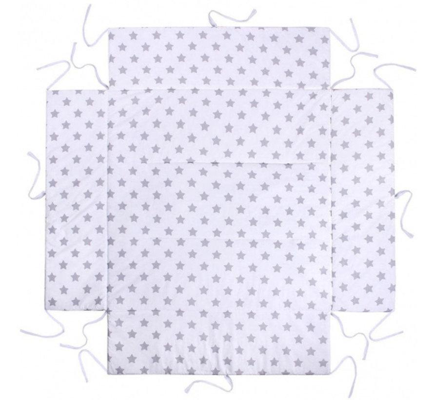boxkleed junior 100 x 100 cm katoen wit/lichtgrijs