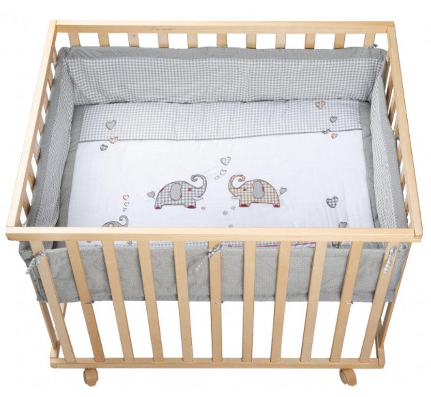 babybox Jumbotwins 100 x 75 x 72,5 cm hout naturel