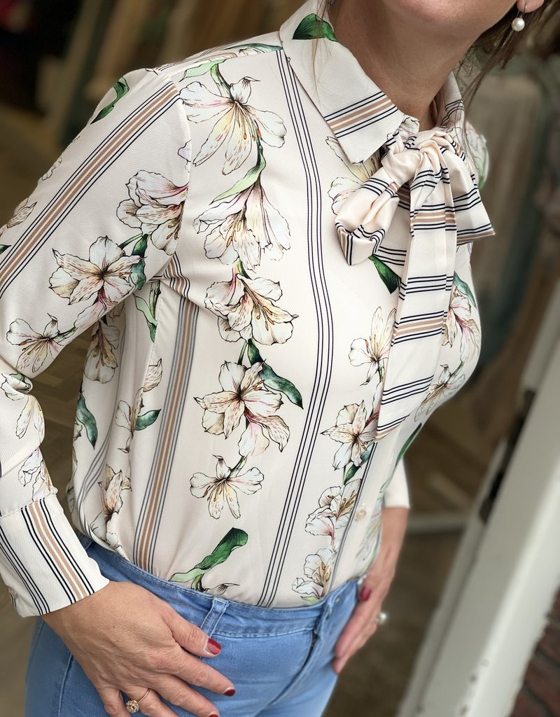 JK CASUAL BLOUSE BOW FLOWER