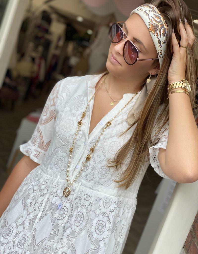 JK CASUAL DRESS LACE WHITE