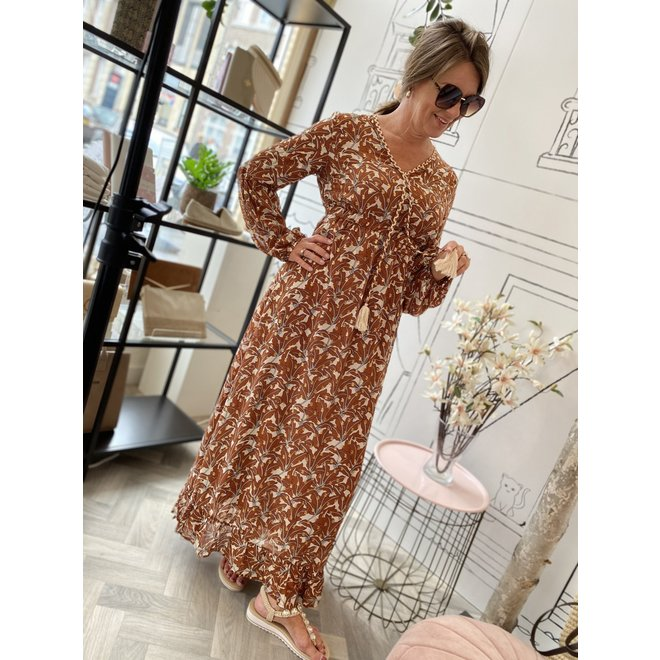 DRESS CC1236 MARRON