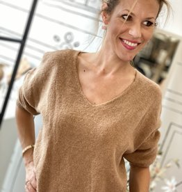 JK CASUAL PULLOVER W20-004 BROWN ONESIZE