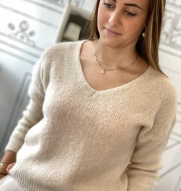 JK CASUAL PULLOVER W20-004 CREME ONESIZE