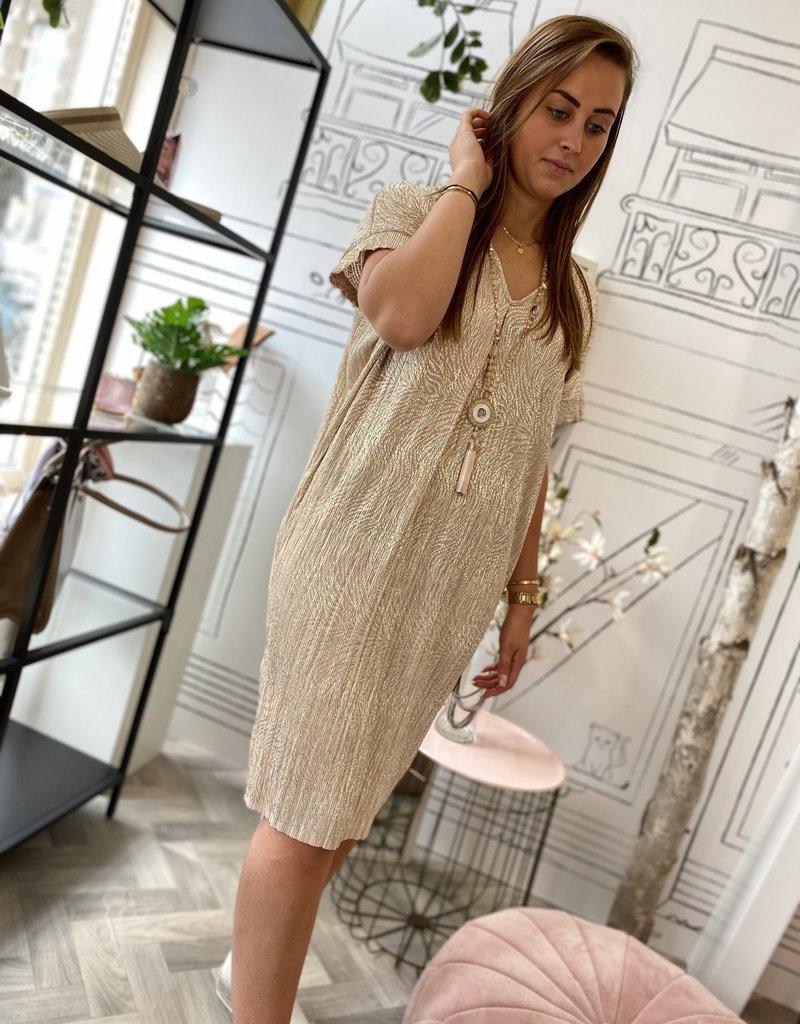 JK CASUAL DRESS BEIGE/GOLD 20033G ONESIZE