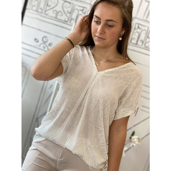 TOP WHITE/GOLD 20075 ONESIZE