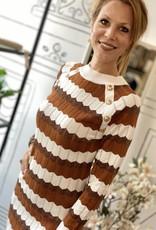 JK CASUAL MISSONI LOOK DRESS BROWN