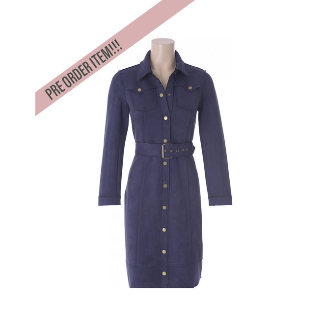 PRE -ORDER DRESS SUEDE R554 INDIGO