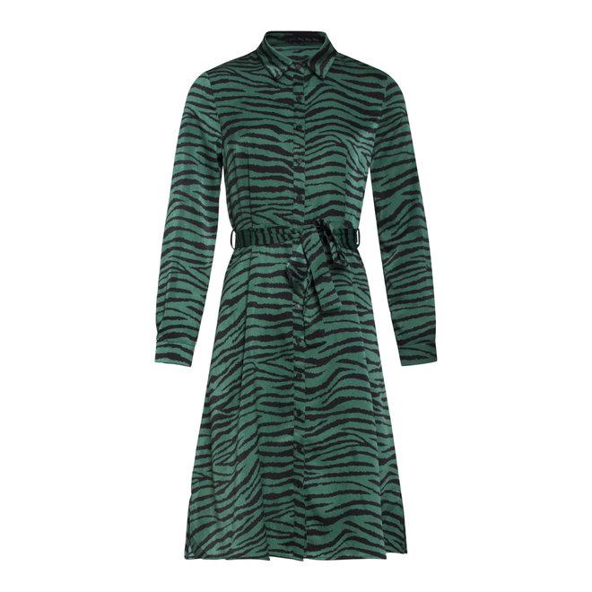 DRESS 20543 TURQ/BLACK