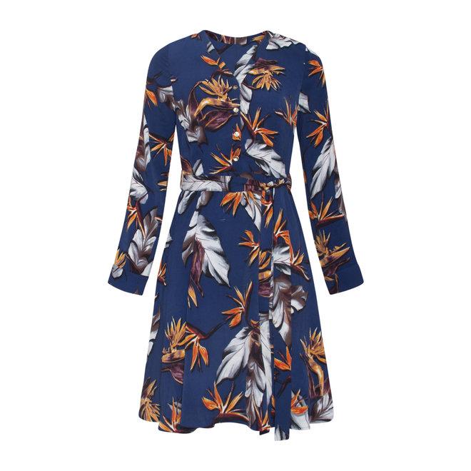 DRESS 20566 BLUE/MULTI