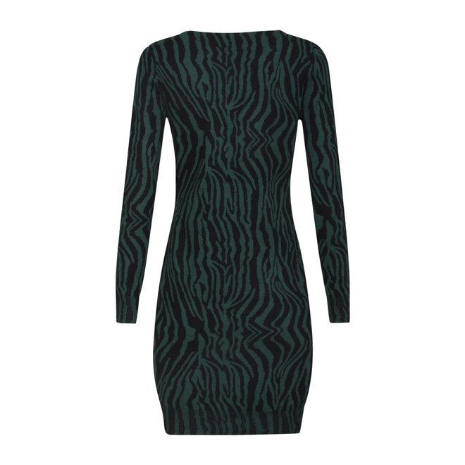 DRESS 20636 TURQ/BLACK