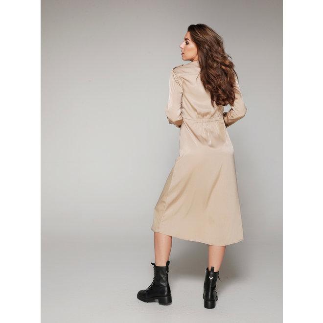 DRESS SIGRID REB-15186 BEIGE