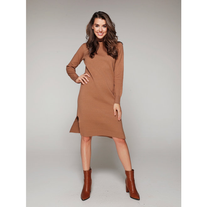 DRESS REB-3523 BROWN
