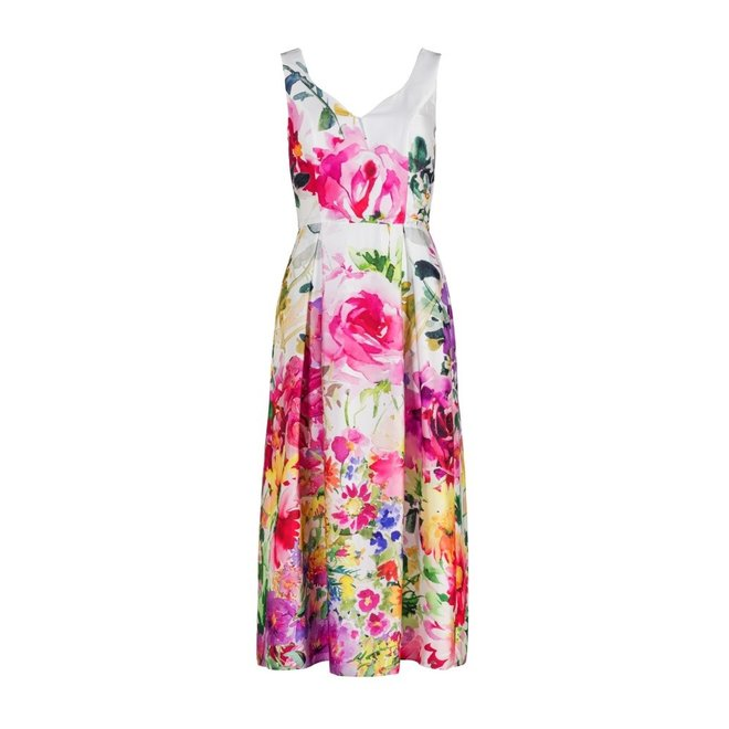 DRESS 500452 SATIN FLOWER