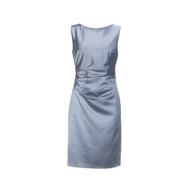 DRESS 500482 SATIN STRETCH PASTEL BLUE
