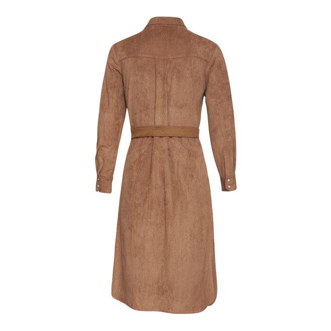 DRESS 20662 BROWN/BLACK