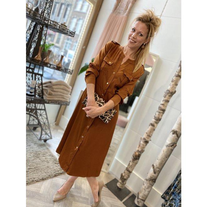 DRESS SIGRID REB-15186 CAMEL