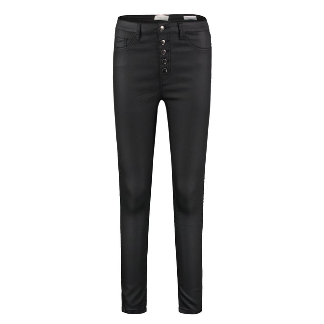 HIGH WAIST COATING JEANS DEFNE BLACK