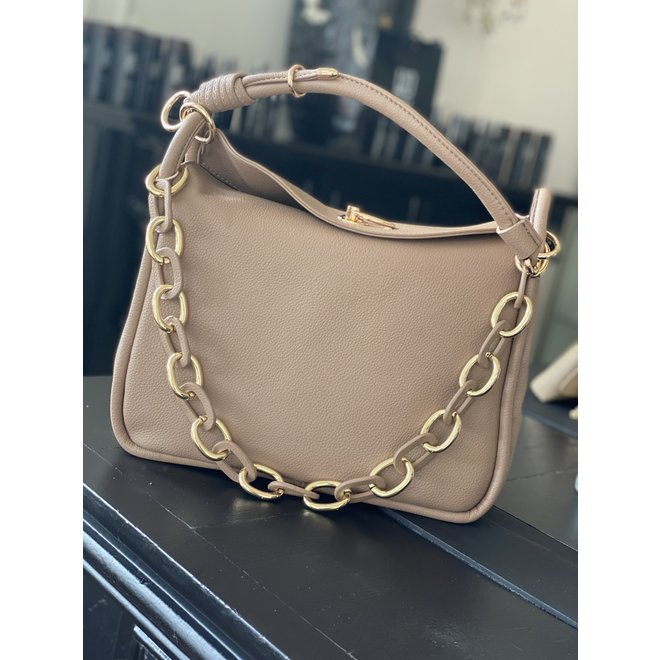 GOLD CHAIN BAG 282296 TAUPE