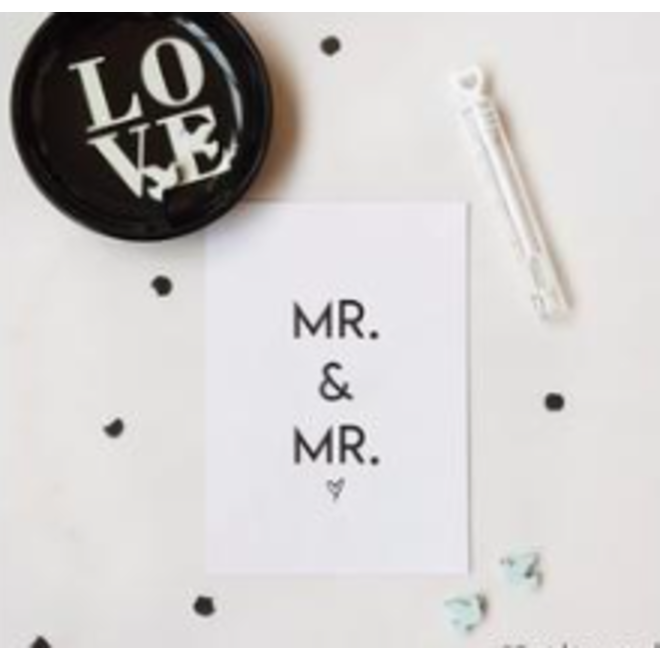KAARTEN: 'MR & MRS'