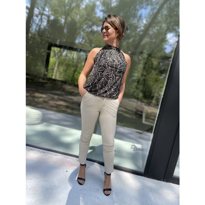 SUMMER TRAVEL-TOP BLACK TAUPE