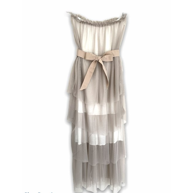 PARTY DRESS BEIGE TUILLE ONE SIZE