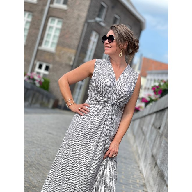 MAXI DRESS 19801 OFFWHITE GOLD ONE SIZE