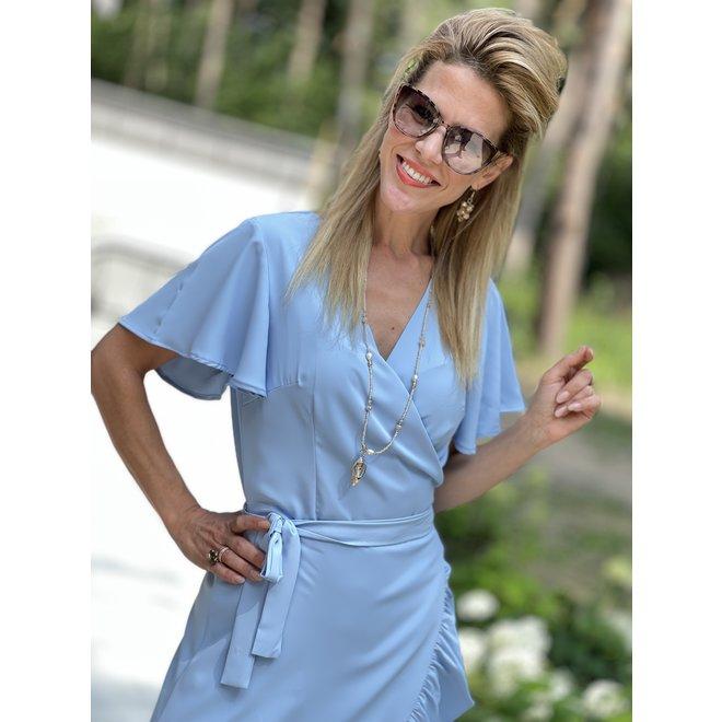 DRESS  SKY BLUE KL68942