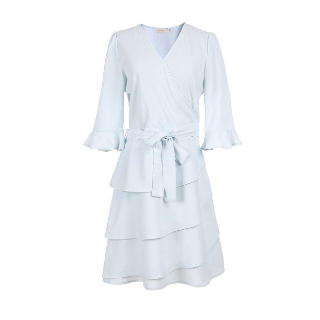 DRESS BEIGE KL68939 LIGHT BLUE