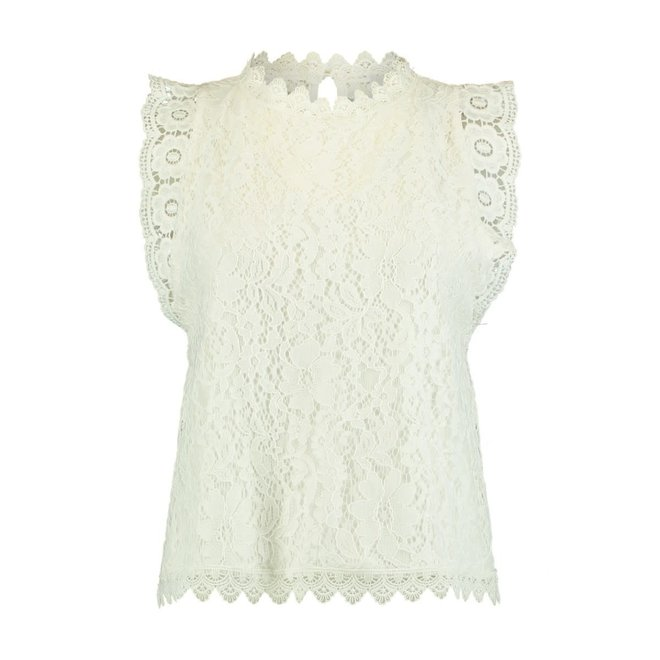 TOP KLEO OFFWHITE LACE
