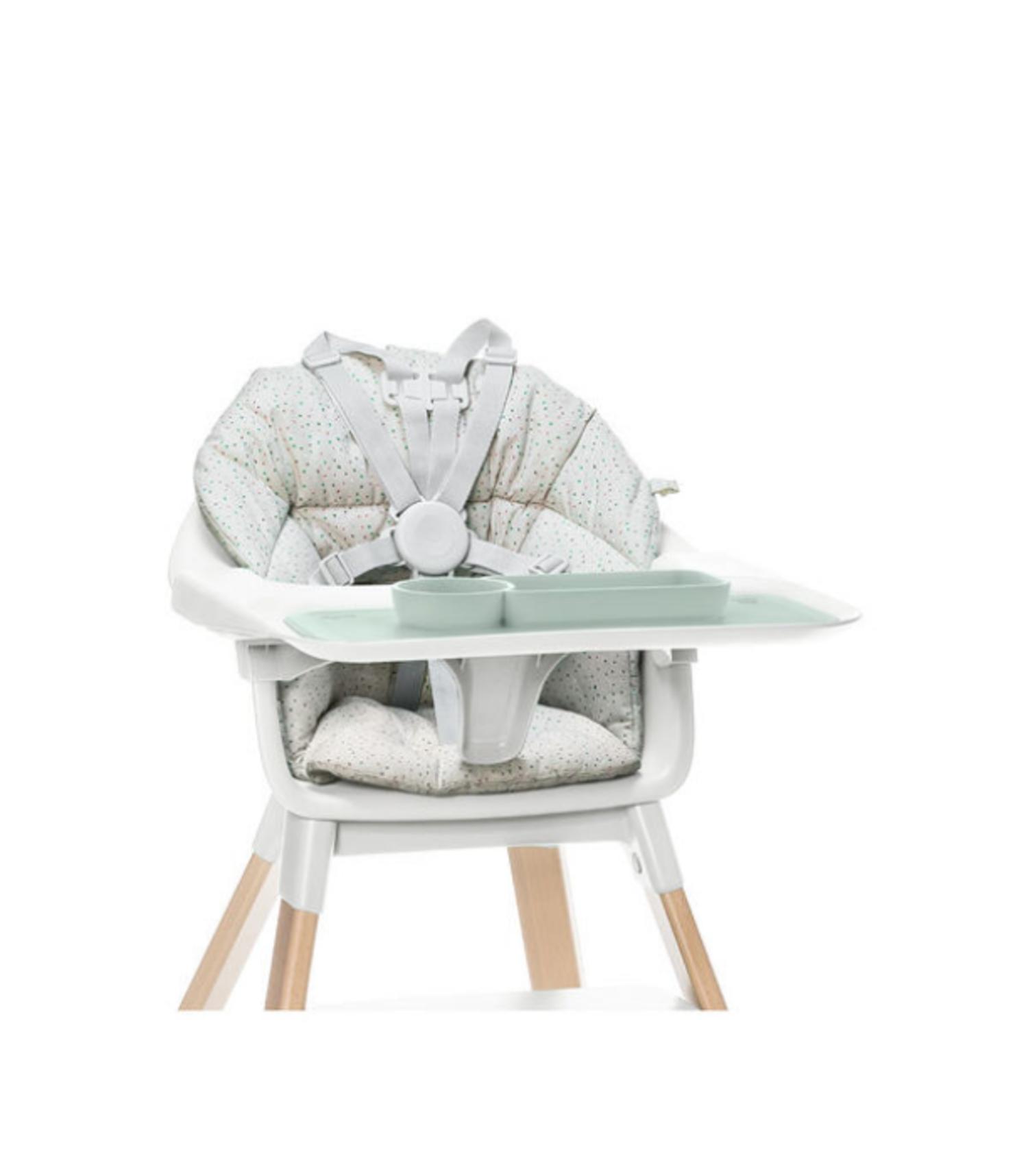 SET DE TABLE EZPZ POUR CHAISE-HAUTE STOKKE CLIKK - SOFT GREY - MOM POP