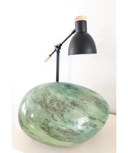 Lamp handmade groen glas