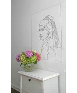Pattern sheet Meisje met de Parel - aparte muurdecoratie