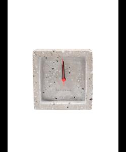 Alarmklok Terrazo vierkant Grey