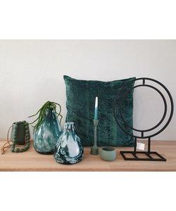 Kussen green velvet XL 60 x 60 cm