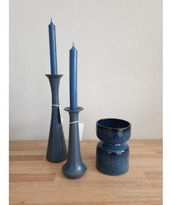 Kandelaar/Vaas Moura blauw