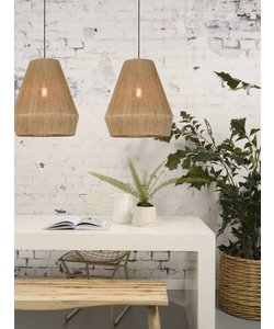 Hanging lamp Iguazu jute natural, S